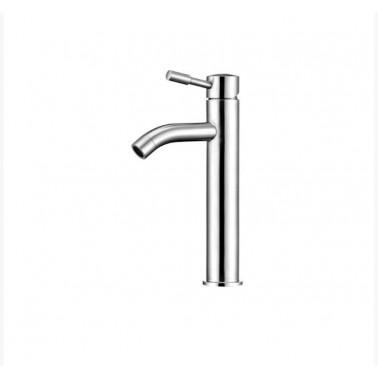 Grifo medio de lavabo fabricado en acero inoxidable AISI 304 modelo Inox Galindo