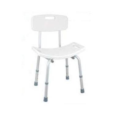 Silla para baño, con asiento regulable en altura de 40 a 50 cm Komercia
