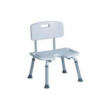 Silla para baño, con asiento regulable en altura de 33 a 43 cm Komercia