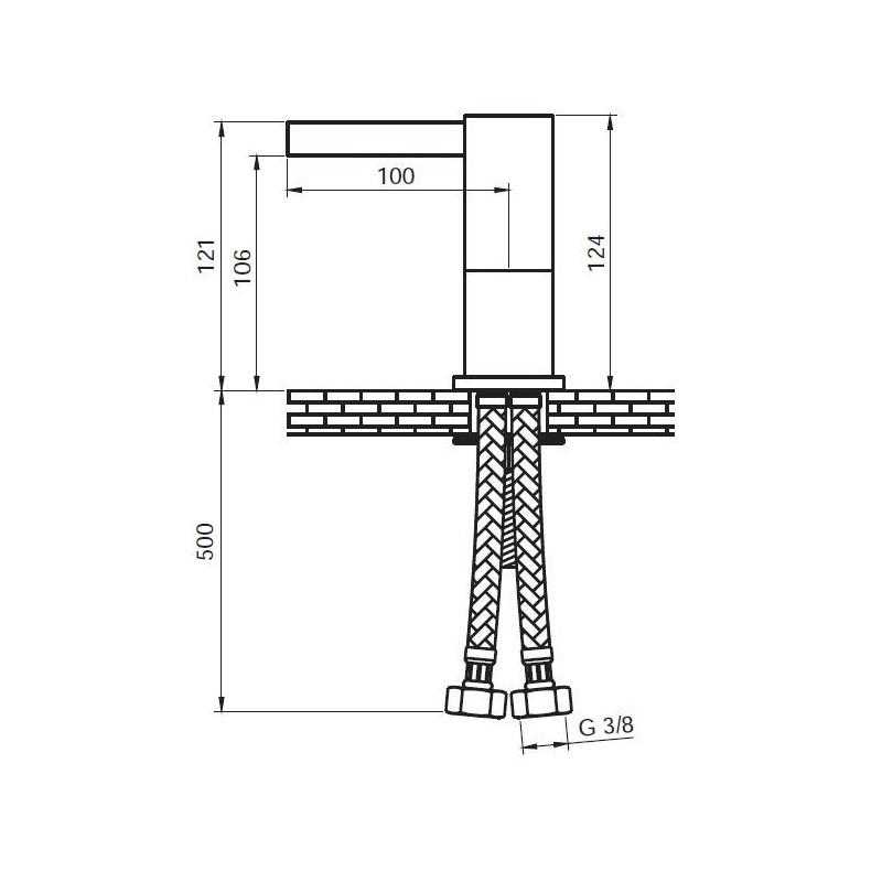 Grifo monomando de lavabo cascada Serie 900