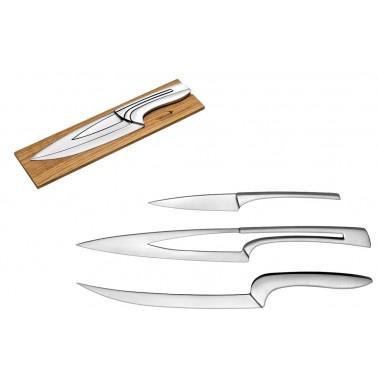 Estuche con cuchillo cocinero, cuchillo de trinchar y puntilla Fricosmos