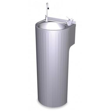 Fuente de columna fabricada en acero inoxidable Fricosmos