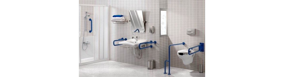 Handicap grab bars for bathroom