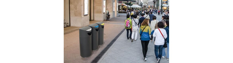 Urban recycling bins