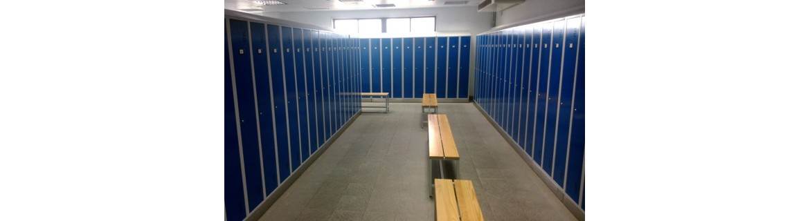 Lockers for changing rooms