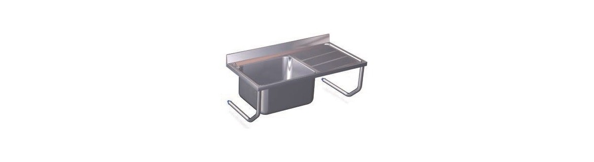 Sinks with hanging brackets