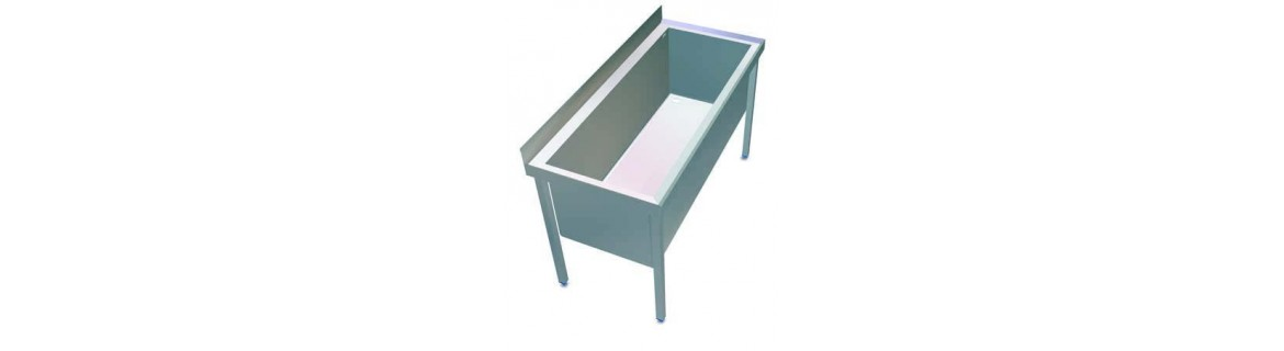 Sink a large capacity tray