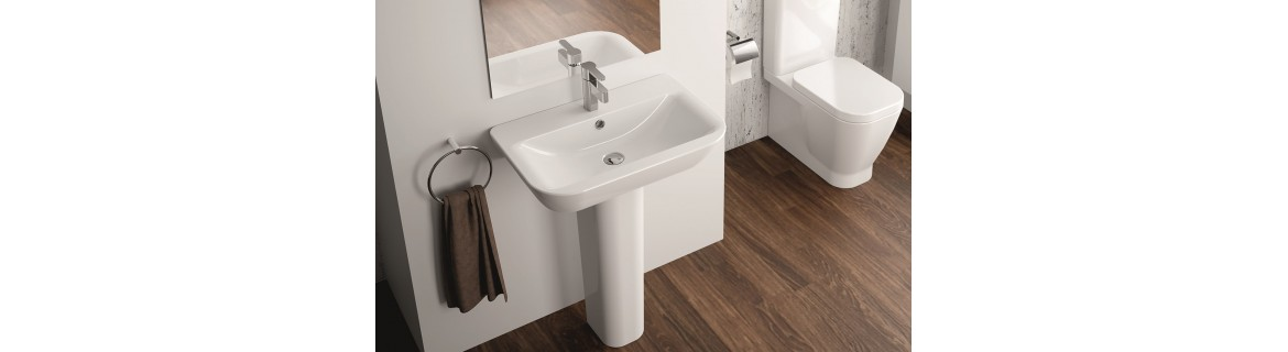 Washbasins with pedestal