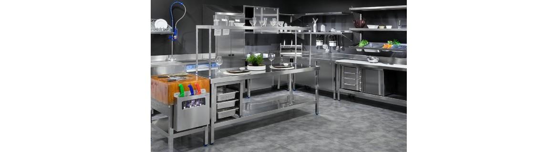 Mobiliario de acero inoxidable para hostelería
