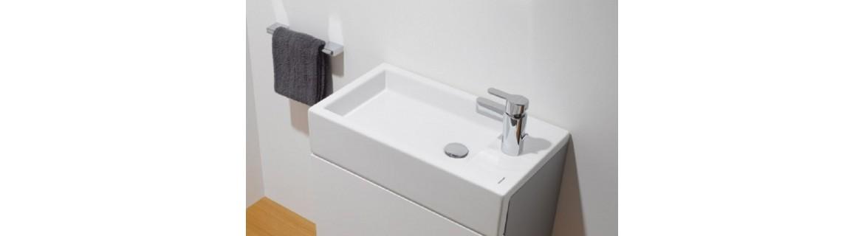 Semi-inset washbasins